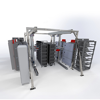 Modra Creelmt - automated yarn creeling system for tufted carpet manufacturers